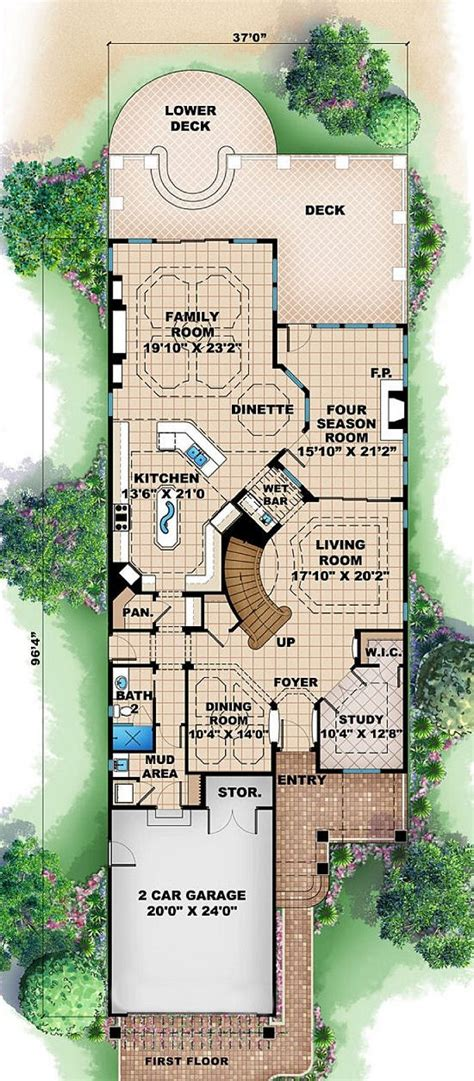 narrow lot cottage plans long narrow house plans 171 floor plans