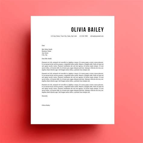 layout design jobs resume template cover letter instant download fonts