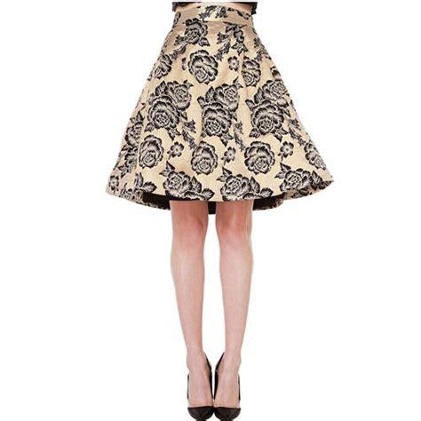 golden vintage floral a line skirt 15sk00098