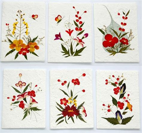 flower design greeting cards 17 best images about dried pressed flowers on pinterest