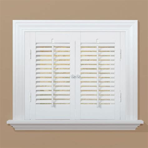 home depot interior shutters homebasics traditional faux wood white interior shutter price varies by size qsta2332 the