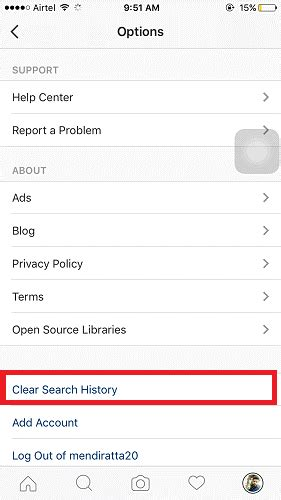 How To Delete From Instagram Search How To Get Rid Of Instagram Search History