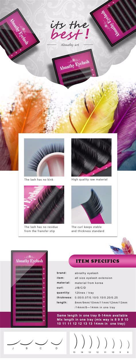 Abnathy Eyelash Extension abnathy 1 pc 0 07 jbcd curl 12 rows per tray volume eyelash extension mink false lashes