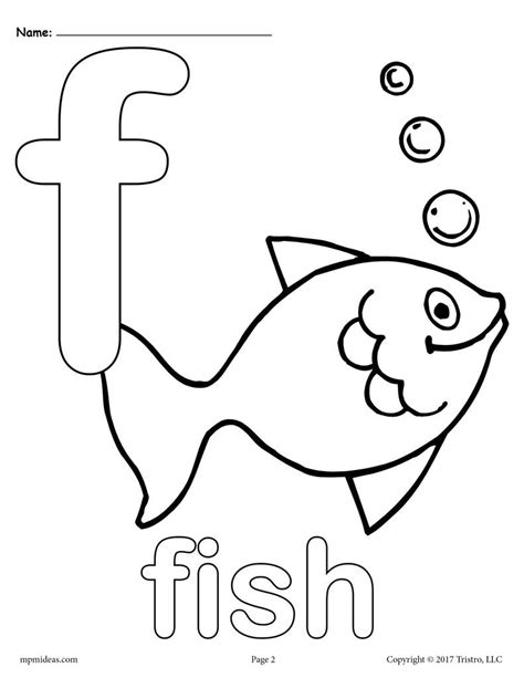 Coloring Pages Of The Letter F