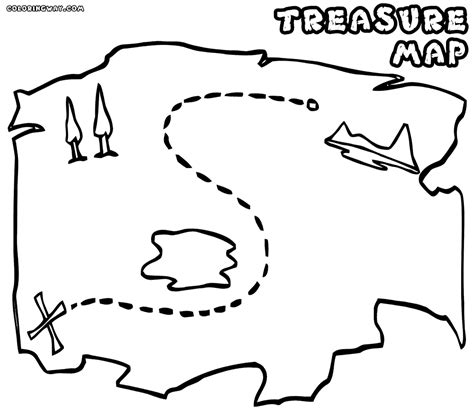 Treasure Map Coloring Pages For Kids Coloring Home Print Your Color L