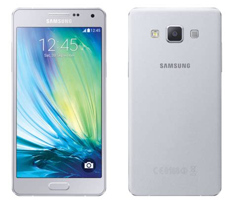 Samsung A5 Silver samsung announces galaxy a5 and a3 with all metal bodies
