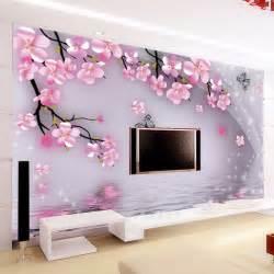 Living Room Flower Wallpaper Large Mural Wallpaper The Flowers Wallpaper For