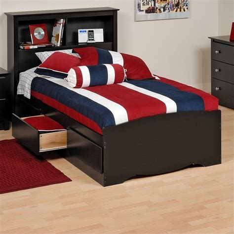 black twin bed with storage black twin platform storage bed with drawers bbt 4100 2k
