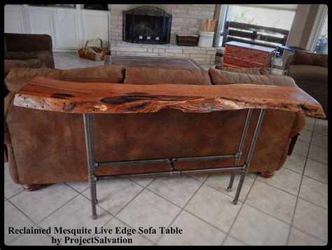 buy a crafted live edge mesquite sofa table made to