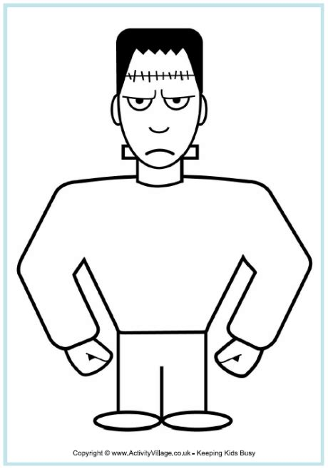 frankenstein colouring page
