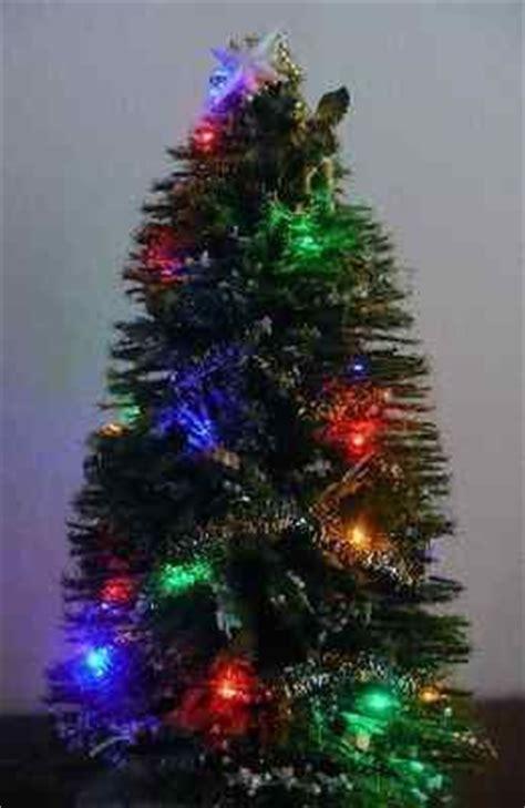 dollhouse miniature battery op christmas tree lights led