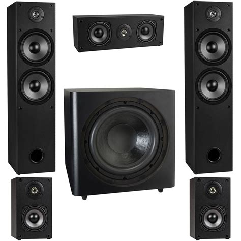 Home Surround Sound by T652 5 1 Home Theater Surround Sound Speaker System With 12 Quot Subwoofer