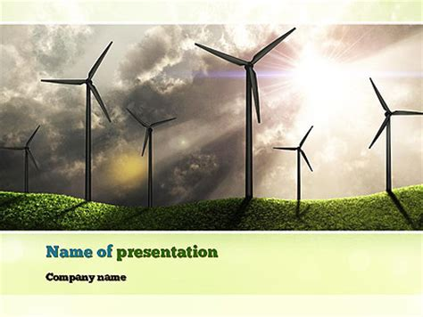 powerpoint themes wind energy wind turbine presentation template for powerpoint and