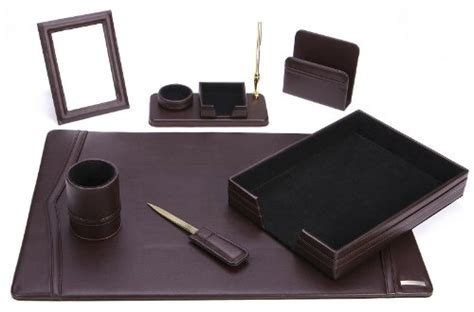 office supply eco friendly leather desk set  dsn  ebay