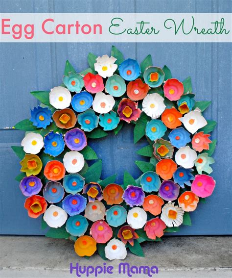 egg crafts for easter wreath crafts