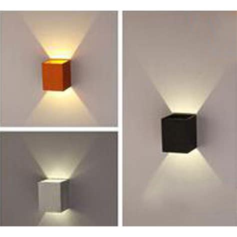 Simple Wall Lights Buy 3w Simple Up And Side Aluminum Square Led Wall