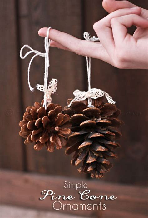 simple pine cone ornaments