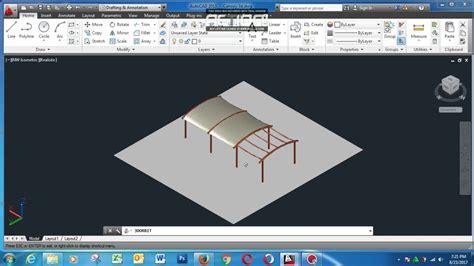 tutorial autocad 2013 youtube tutorial membuat canopy 3d autocad 2013 youtube