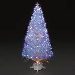 4ft 120cm polar ice white fibre optic led christmas tree
