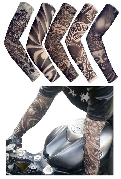 fake tattoo sleeves for men tiaobug temporary slip on arm