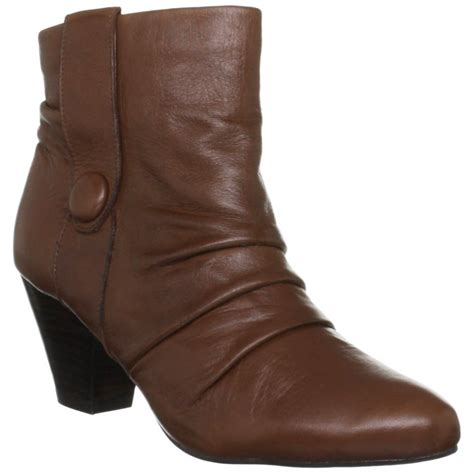 lotus graphite brown leather ankle boot lotus from