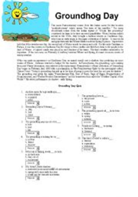 groundhog day eng groundhog day reading comprehension worksheet worksheets