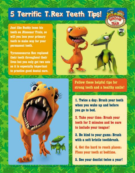 printable dinosaur poster dinosaur train printable teeth tips poster mama likes this