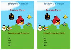 6 best images of angry birds printable invitations free