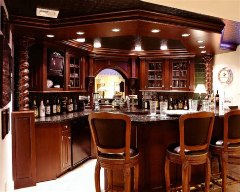Ideas For Remodeling Kitchen by Man Cave Amp Bar Traditional Family Room Other Metro