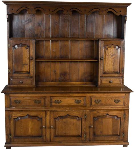 antique dining room hutch antique style solid oak welsh dresser plate rack kitchen