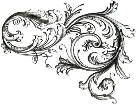 curly tattoo designs filigree inspiration a4 scrollwork and curly cues