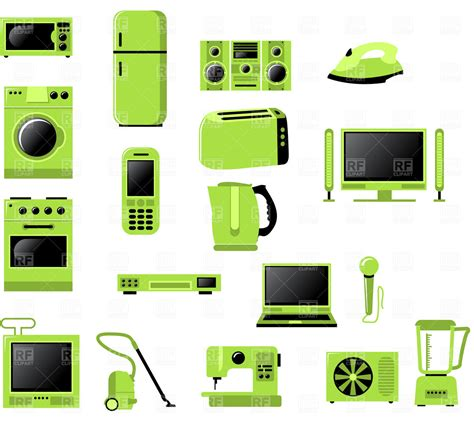 Microwave Kettle Toaster Set Domestic Appliances Icons 4578 Technology Download