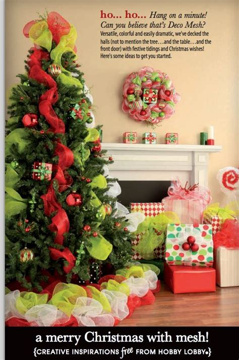 use deco mesh to add bright holiday flair to trees