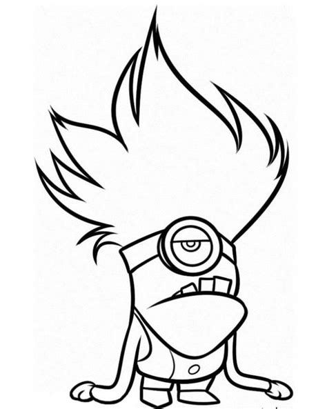 evil minions coloring pages evil minion despicable me 2 coloring page coloring pages