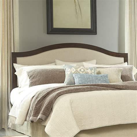 brown upholstered headboard ashley corraya upholstered king panel headboard in brown