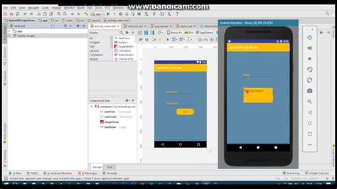 android studio layout imageview android studio ui design login screen with imageview