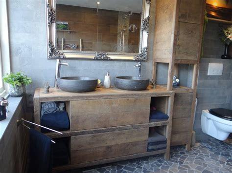 badkamermeubel hout en staal badkamerkast oud hout beste badkamer tafel hout stoere