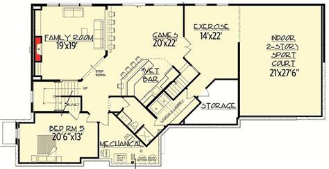 courtroom floor plan floor plan of hillsborough court big daddy sport court house plan 73356hs architectural