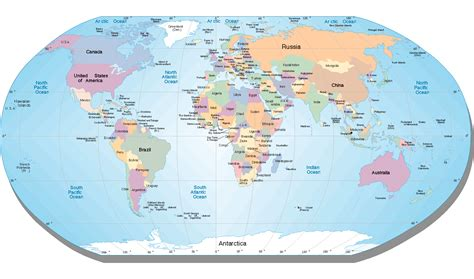 world map of cities and countries printable world map with countries and cities