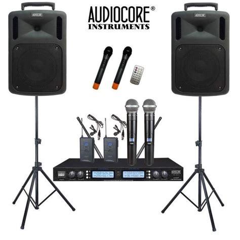 Murah Soundsystem Buat Indor Dan Outdor Murah jual paket sound system portable wireless audiocore harga