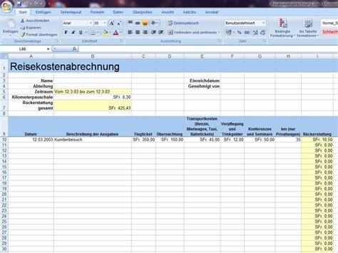Muster Formular Reisekostenabrechnung Reisekostenabrechnung Excelvorlage De