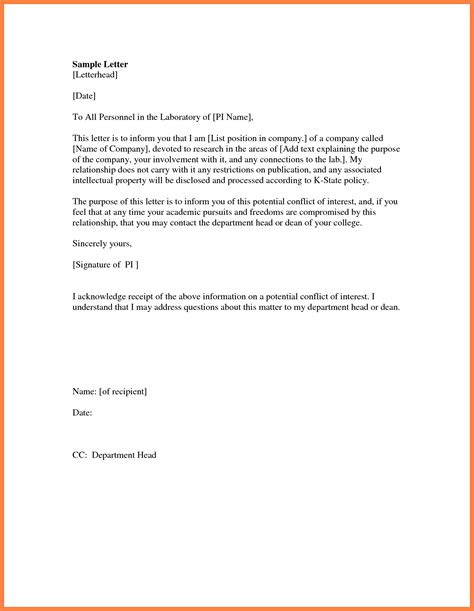 Formal Letter Head Template How To Write A In Mla Format