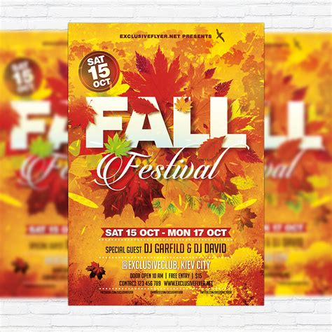 fall flyer template fall festival vol 3 premium flyer template