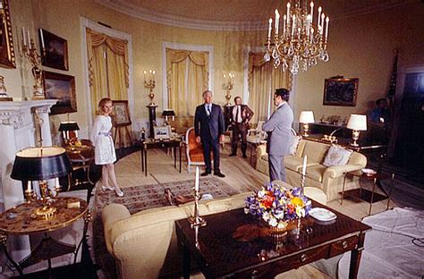 yellow oval room 1970 tricia nixon in the yellow room during the filming of white house tour for 60 minutes
