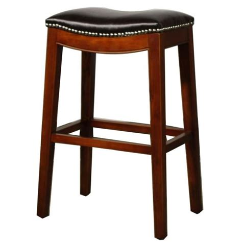 Counter Stool Leather by Elmo Bounded Leather Counter Stool