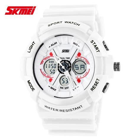 Jam Tangan Pria Wanita Original Skmei S Shock Anti Air 2 jual jam tangan pria skmei dual time s shock sport