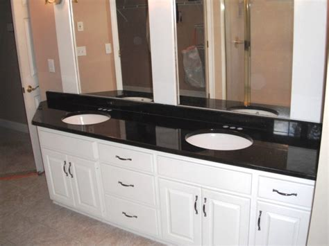 black granite countertops in bathroom 7 2 12 black galaxy granite colors for white cabinets