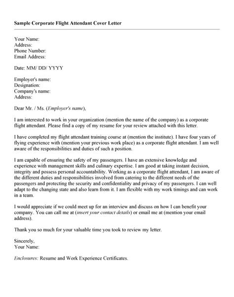 cover letter sle for flight attendant sle of cover letter for flight attendant position 28