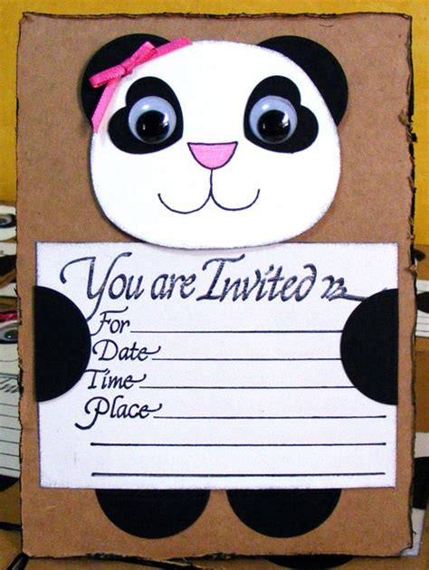 158 Best Panda Birthday Party Images On Pinterest Panda Party Panda Birthday Party And Panda Birthday Card Template