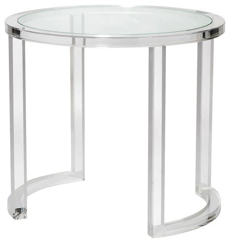 Acrylic Accent Table Modern Acrylic Clear Glass Center Table Modern Side Tables And End Tables By